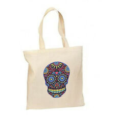 Neon Sugar Skull New Lightweight Cotton Tote Book Bag Gifts Events Loot