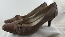 Mootsies Tootsies Womens Brown Sueded Snake Print Heels Pumps Shoes Size 10 M