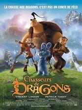 Affiche 120x160cm CHASSEURS DE DRAGONS (2008) Arthur Qwak Film d'animation TBE