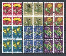 YUGOSLAVIE FLEURS - 1965 YT 1013 à 101 blocs - STAMPS OBL. / USED - COTE 14,00 €