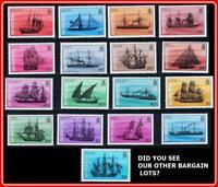 BERMUDA 1986/89 SAILING SHIPS SC#482-98 MNH complete set (SEE FACE VALUE-USA?)