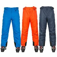 Trespass Mens Ski Pants Padded Waterproof Braces Snowboarding Trousers