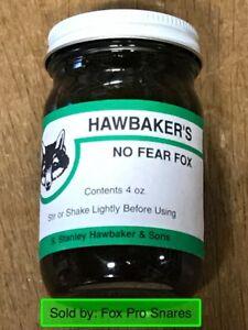 Hawbaker's NO FEAR FOX  Bait 4 Oz. Predator Bait NEW SALE