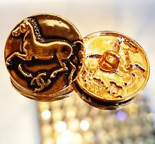 set 8 Horse Bronze Gold Metal Buttons Garment accessories Party Craft Gift  20mm