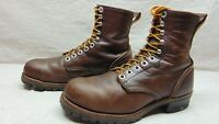 Northlake Men's 11 E Brown Leather Steel Toe Lace Up Logger Safety Work Boots