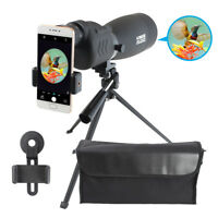 25-75X70 Zoom Spotting Scope BAK4 Prism Telescope Waterproof W/ Tripod & Adapter
