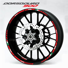 aprilia Dorsoduro 900 wheel decals stickers set rim stripes Laminated red