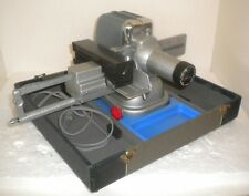 1950's Viewlex # V-33 Chrome & Hammered Blue Paint Slide Projector + Tray & Case