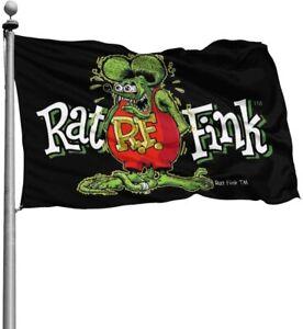 Rat Fink Flag Banner Sign Matco 3x5 Ft Hot Rod Ford Chevy Mustang Mopar Man Cave
