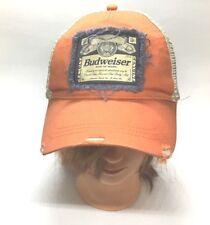 Budweiser Ball Cap Hat Distressed Snapback 1876