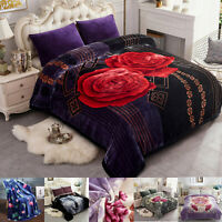 Solid Color Winter Blanket Blank Grey Plush Warm Traditional Allover Blankets