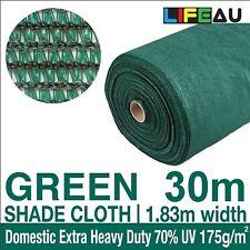 70% UV GREEN Shadecloth 1.83m x 30m Domestic Heavy Duty Shade Cloth 1.83 x 30m