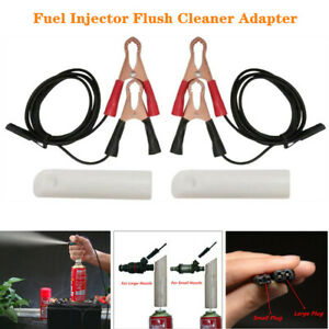 Auto Fuel Injector Nozzle Flush Cleaner Adapter DIY Cleaning Tool Universal Kit