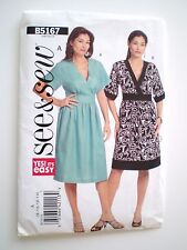 Pattern Butterick Dress See & Sew B5167 Easy Size 8-14 Two Versions Used