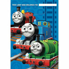 THOMAS THE TANK PARTY SUPPLIES TREAT SACKS PACK OF 8 GOOD QUALITY