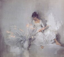 William Russell Flint A GIFT OF GLADIOLI Figurative Art (Unsigned) Released 2003