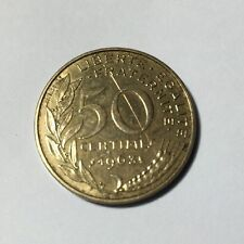 50 centimes LAGRIFFOUL 1963 col 3 plis Num5