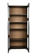Aspen 2 Glass Door Pantry Cupboard Wardrobe/Storage in Black,  Moden Design
