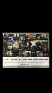 MANIC STREET PREACHERS THIS IS MY TRUTH TELL ME YOURS RECORD SHOP POSTER