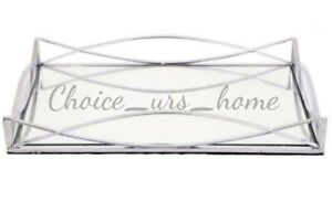 POLISHED MIRROR VINTAGE SILVER DISPLAY TRAY BEAUTIFUL HOME DECOR CANDLE GIFT