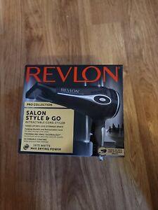 Revlon Pro Collection Hair Dryer Salon Style& Go 1875 Watt Retractable Cable NEW