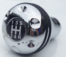 Universal 5 Velocidad Cromo Gear Shift Knob adecuado para todo non-lift inversa Cars