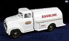 Awesome 1950s Vintage Restored White Tonka Gasoline Pressed Steel Tanker Truck
