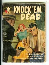 KNOCK 'EM DEAD, rare Aust. Phantom #677 crime gga boxing digest pulp vintage pb