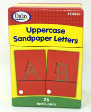 TACTILE UPPERCASE SANDPAPER ALPHABET LETTERS – 26 CARDS IN BOX – DIDAX EDUCATION