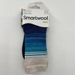 Smartwool Women's Crew Hiking Socks Merino Wool Ultra Light Cushion Blue M/7-9.5