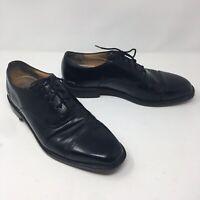 *Rockport Mens Sz 12 Black Leather Lace Up Cap Toe Oxford Dress Shoe APM11411