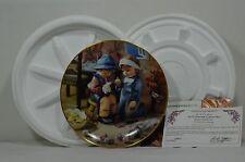 M J Hummel Little Companions Danbury Mint Collector Plates Set Of 3