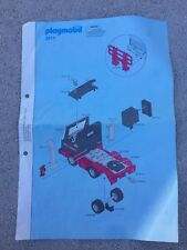 Notice Playmobil 3817 Sunset Truck Camion CITYLIFE Racing Semi Remorque Rare