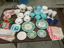 Vintage Lot of over 50 Pieces Child's Dishes Flatware Cups Saucers Plates & More