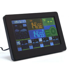 Wireless Weather Station Clock Thermometer w/Remote Sensor WiFi Alarm Humidity