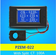 AC 80 ~ 260V  6in1 Single Phase  Digital Watt Power  Meter Current With Split CT