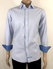 English Laundry Size 16 34-35 Men's Shirt Slim Fit Long Sleeve Button Front