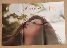 HyunA A'wesome Official Folded Poster 4Minute Hyunah Hyun A 4 Minute US SELLER