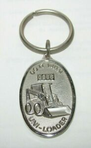 Case Construction Uni-Loader Skid Steer Metal Key Chain Ring Fob Silver