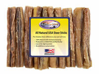 "10 Count 6"" MONSTER Shadow River USA STEER Bully Sticks Dog Treats Chew"