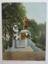 c1901 Postcard Reading Pa McKinley Monument unposted