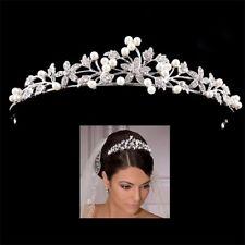 NEW DELICATE PRINCESS HEADBAND TIARA BRIDE BRIDESMAID FAUX PEARL & RHINESTONE