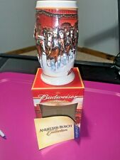 2006 Budweiser holiday stein (Sunset at the Stables) Mint Box+Paperwork
