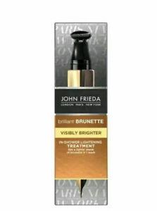 3x John Frieda Brilliant Brunette Express In-Shower Lightening Treatment 1x34ml