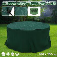 """73"""" x 79"""" Outdoor Garden Furniture Cover Round Patio Table Chair Waterproof Us"""