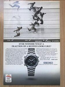 Seiko 1992 Advertisement Pub Ad Werbung
