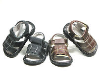 Baby Toddler Boys Genuine Leather Sandals Two Colors Brown - Black  Sz  2-9