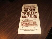 ARDEN TROLLEY MUSEUM WASHINGTON, PA UNDATED BROCHURE #4