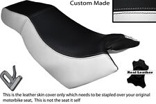 WHITE & BLACK CUSTOM FITS KYMCO CK PULSAR 125 OLD SHAPE DUAL LEATHER SEAT COVER