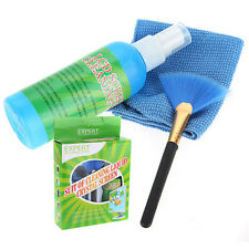 3 in 1 PC Laptop LED LCD Monitor Screen Plasma Cleaner Cleaning Cloth Brush KIT
